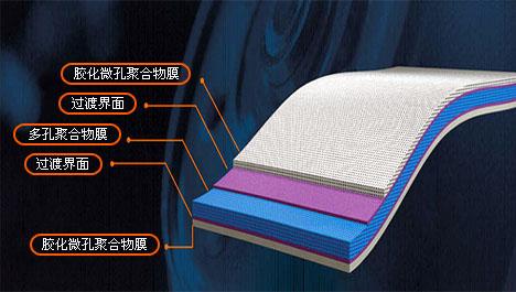 聚合物锂离子电池隔膜结构示意图